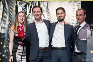 El equipo de SEOMonitor en los European Search Awards